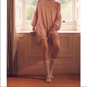 3/$30 Free People Libby Fishnet Tights in Nude